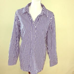 🌿Talbots Royal Blue Striped Blouse